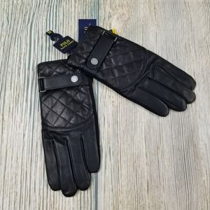 New POLO RALPH LAUREN quilted leather gloves